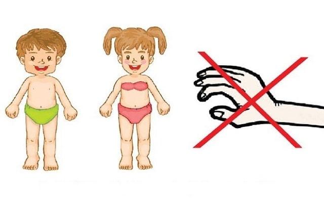 Bố mẹ cần căn dặn trẻ không cho ai chạm vào cơ thể mình, nhất là vùng nhạy cảm