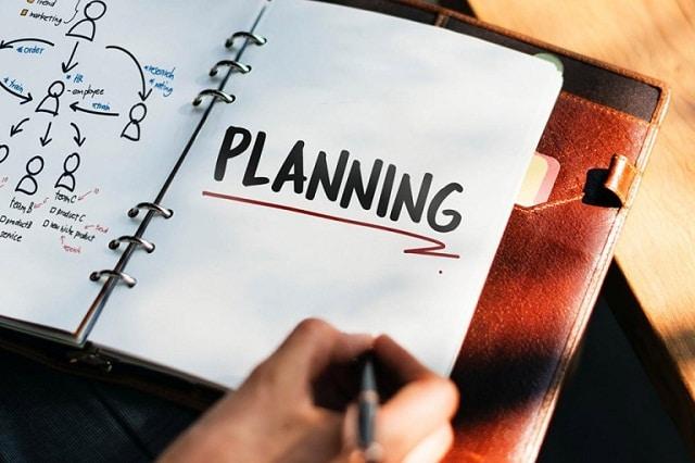 Hãy dành ra vài phút để lập kế hoạch cho bản thân mình