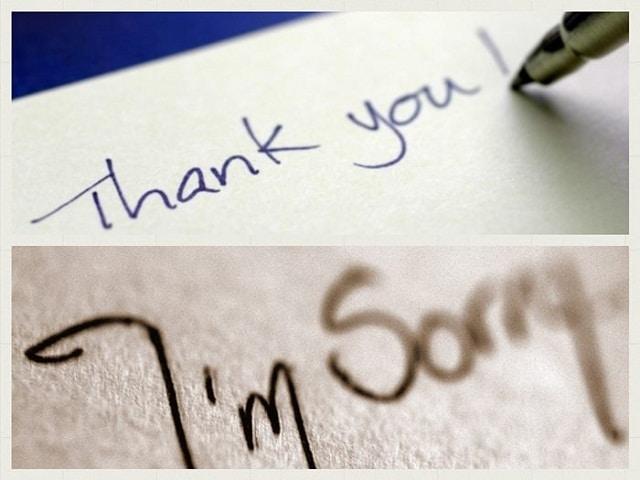 """Bạn nên học cách nói lời 'cảm ơn"""" và """"xin lỗi"""""""