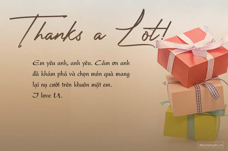 lời cảm ơn hay nhất khi nhận quà
