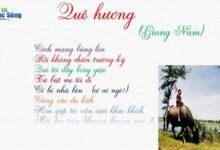 Bài thơ Quê hương của Giang Nam