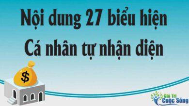 Nội dung 27 biểu hiện cá nhân tự nhận diện tại Nghị quyết số 04 – NQ/TW